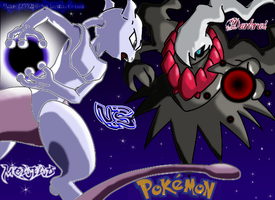 Mewtwo Vs Darkrai by JamalC157