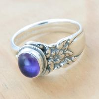 Amethyst Floral Spoon Ring! by metalsmitten