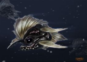 Painting Exercise - Deep sea fish by floopate