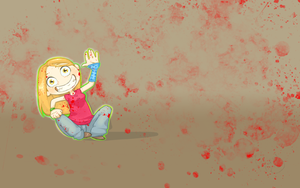 Creepy bloody Girl Wallpaper by Rahxy