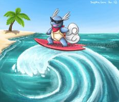 PKMN Contests - Kame used Surf by sapphireluna