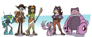 NewCharacter Line-up by randomartist