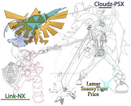 Link X Cloud Smash Rivals by SnazzyTiger