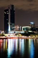 Boat Quay: Night by nbeasley