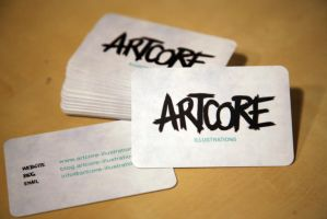 Artcore Business Cards by artcoreillustrations