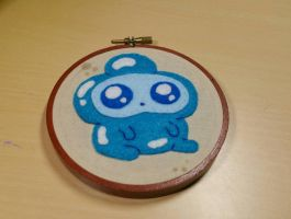 Jelly Kid Embroidery Hoop by monstersbyechidna