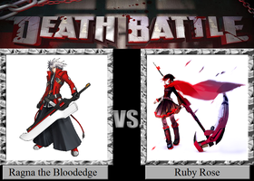 Ragna the Bloodedge vs. Ruby Rose by JasonPictures