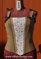 Hobbit style corset with pink by AstarteXOX