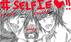 #Selfie with Careless, Melancholy and Helpless by CeciliaKitsuneRyuu