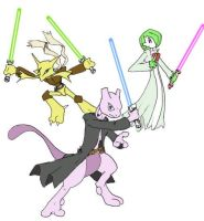 Pokemon Jedi Masters by Flameydragwasp