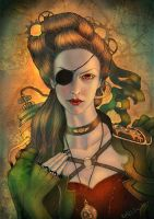 Steampunk portrait by Girre