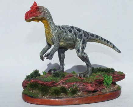 Cryolophosaurus (1 of 4) by Lithographica