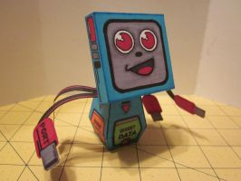 Papercraft Computer guy by enc86