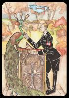 Heydrich tarot: Four Cups by hello-heydi