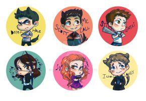 Teen Wolf Buttons by shark-bomb