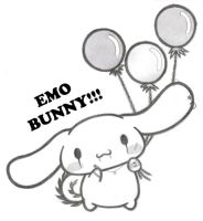 emo bunny balloons by xHailan77x