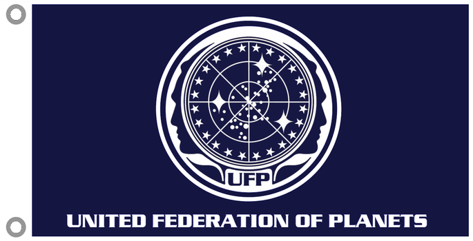 Star Trek TOS United Federation of Planets Flag by viperaviator