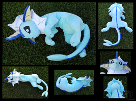 Big Floppy Vaporeon Plush by racingwolf