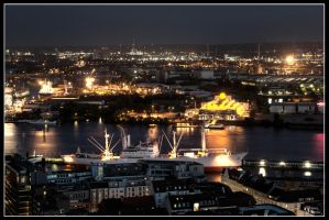 Hamburg at Night 2008 - II by W0LLE