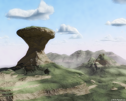 Weird landscape by artkalev