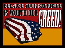 Sacrifice for our greed by jonniedee