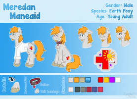 [Commission] Meredan Maneaid Reference Sheet (V2) by LaydeeKaze