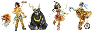 Indian Circus Character Sheet by Zinfer