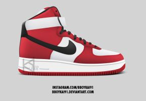 Nike Air Force 1 High 'Chicago Bulls' by BBoyKai91
