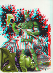 Mar-Vell the Barbarian in 3D Anaglyph by xmancyclops