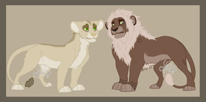 OTA lion couple adopts #1 CLOSED by Karksy