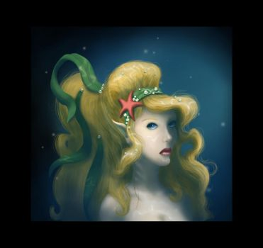 Portrait of a Mermaid by drawmeapicture