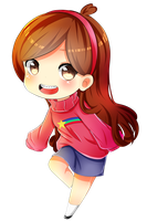 CHIBI-Mabel Pines by Syoa-Kun