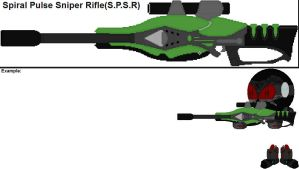 Spiral Pulse Sniper Rifle(S.P.S.R) by YellowNinja123