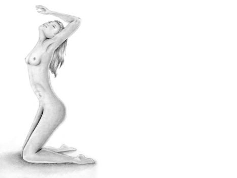 Naked Girl Study by AuthorArtemis