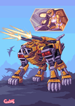 Yellow tigerzord by Cecihoney