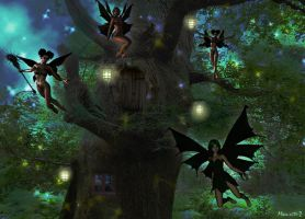 Fairies realm by Momotte2