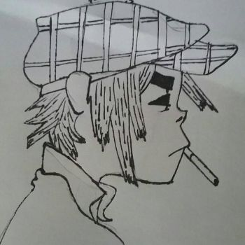2D - Gorillaz - uncolored by DawnShineOfficial