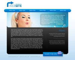 Website Template PSD by Martz90
