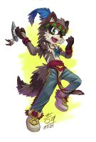 The Red Raccoon Dancing by aun61