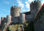 Conwy Castle 07 - Anaglyph 3D by zentron