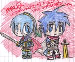 Marth and Ike on Crayon by Death-Note-Ninja02
