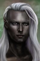 Drow Portrait by SYoshiko