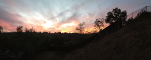 Sunset of 10/6/12 #12 PANORAMIC by Sugerpie56
