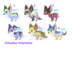 Chihuahua Adoptables - CLOSED by JB-Pawsteps