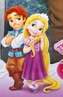 Little Flynn Rider and Rapunzel by Phebomenon