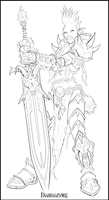 Troll deathknight lineart by Dashandre