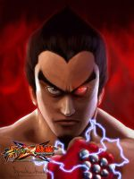 Kazuya- Street Fighter x Tekken by speakerhead89