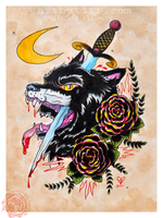 The Wolf and the Dagger by tifftoxic