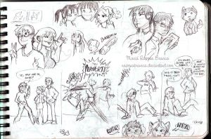 FMA OCs Sketchdump 7 by RaposaBranca