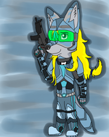 Paintball Warrior by LauraSwiftFoot